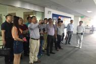 广东省云计算应用协会秘书长岳浩一行来到百助参观交流