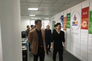芜湖市工商局副局长饶小侃一行到访百助网络