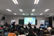 """中国青年创业导师、百助CEO程磊参加第三届""""东风梦想车""""中国青年汽车创意设计大赛创业宣讲"""